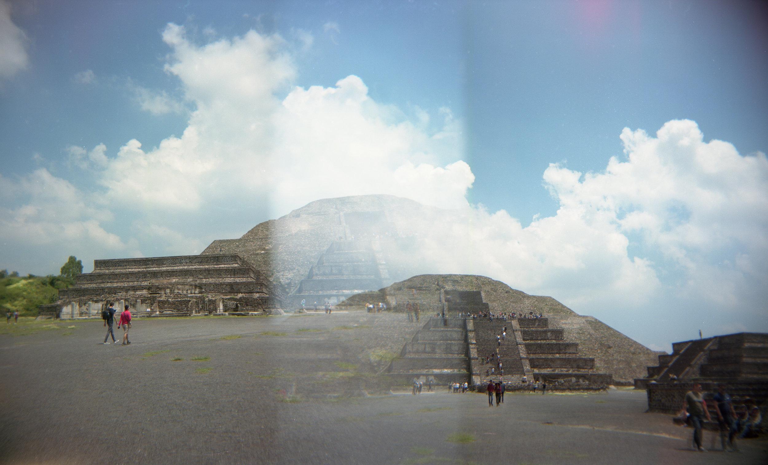 Pyramid & Cumulus, Double Exposure