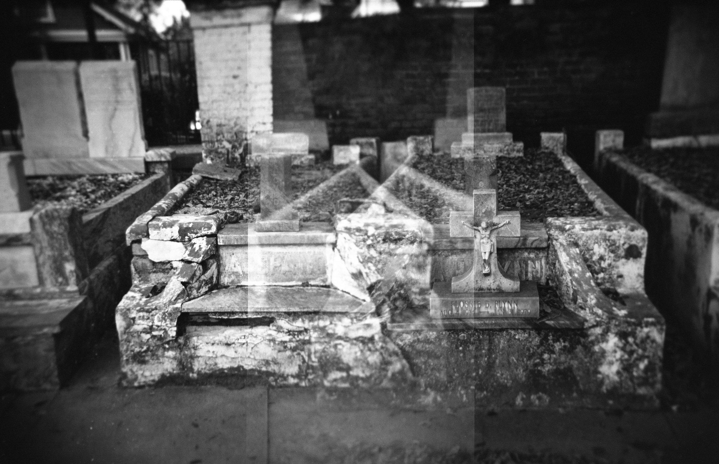 Burial & Crucifix, Double Exposure