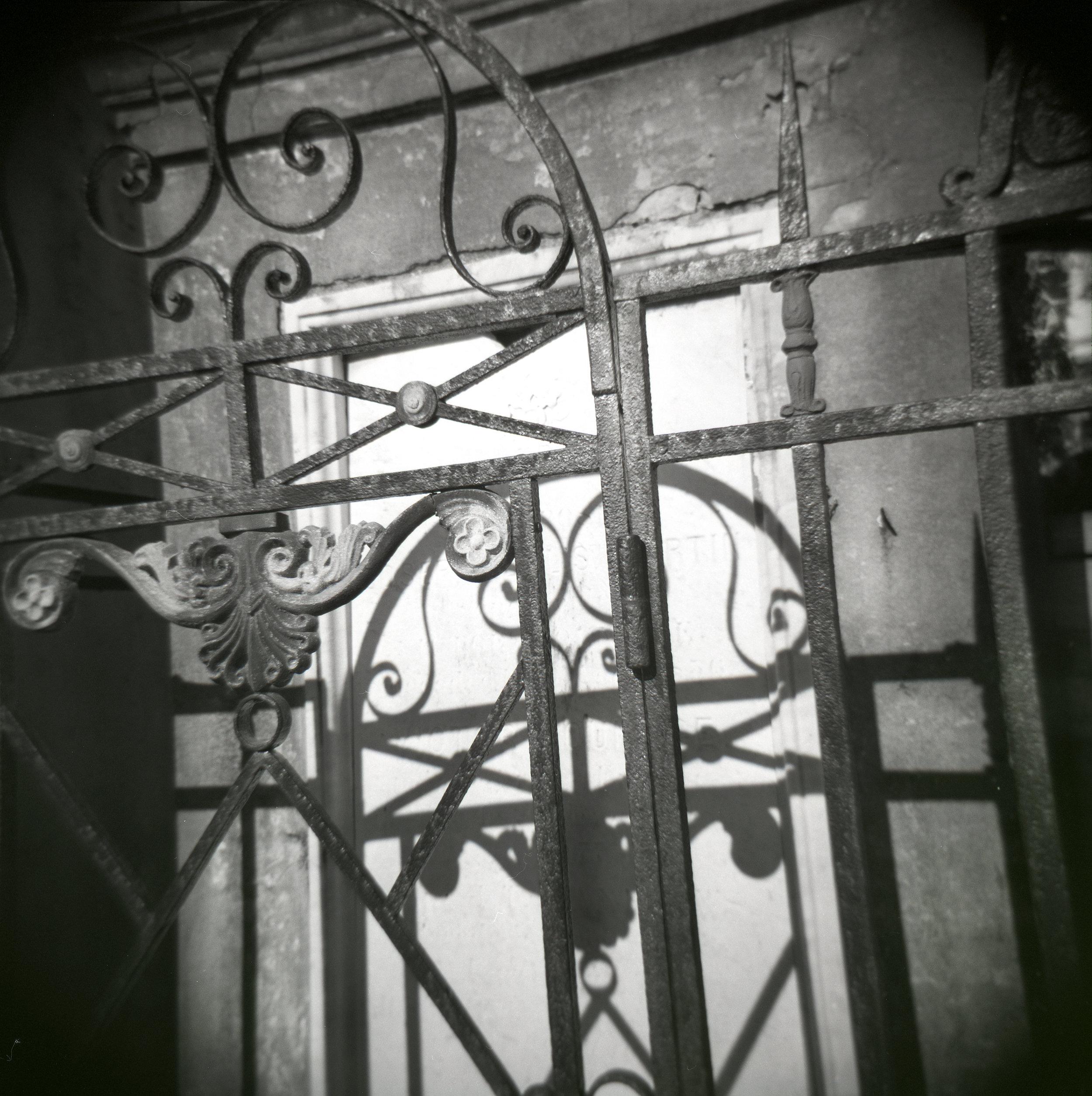 Iron Gate Detail, Black & White