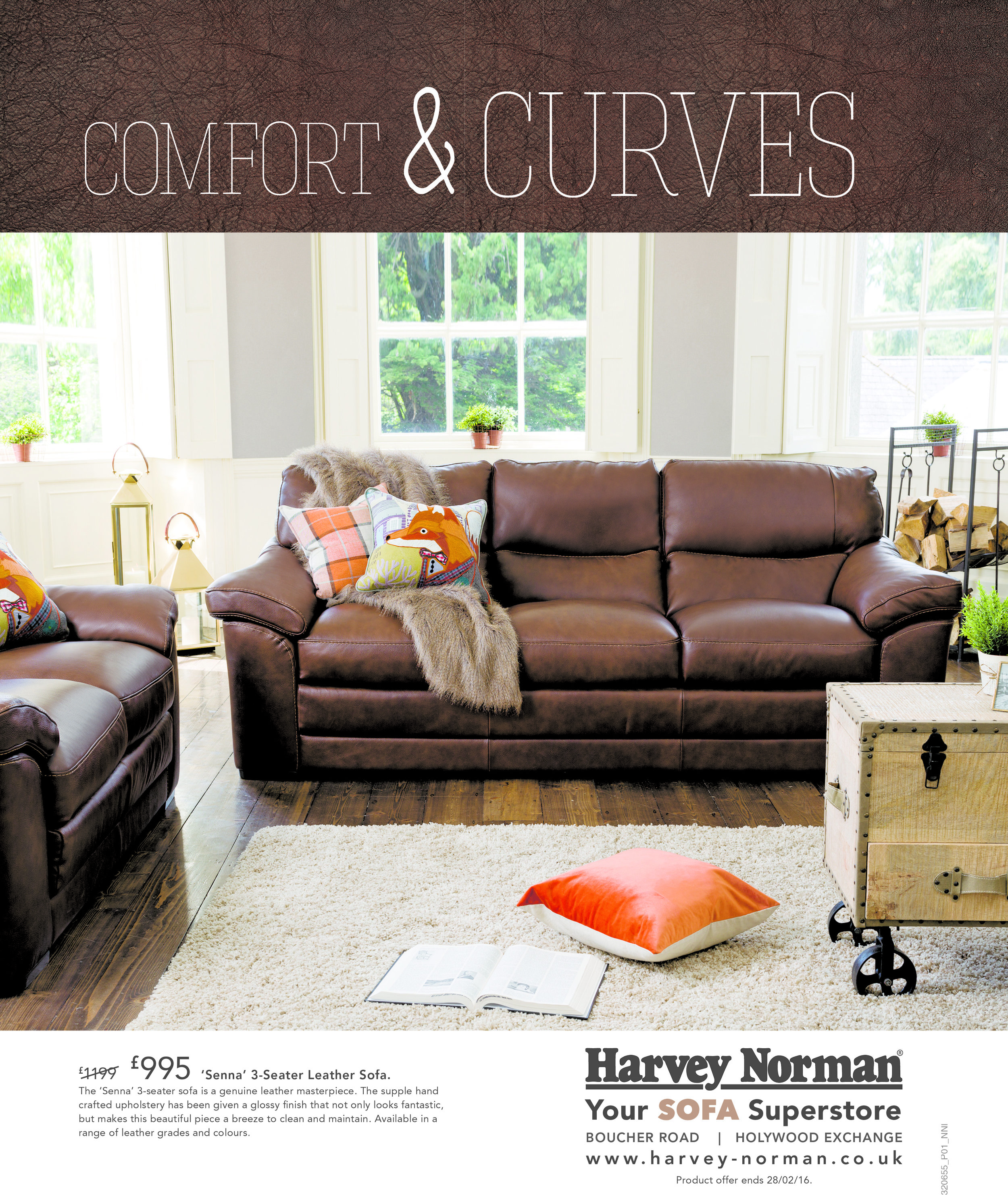 """""""Comfort & Curves"""" Full Page Ad"""
