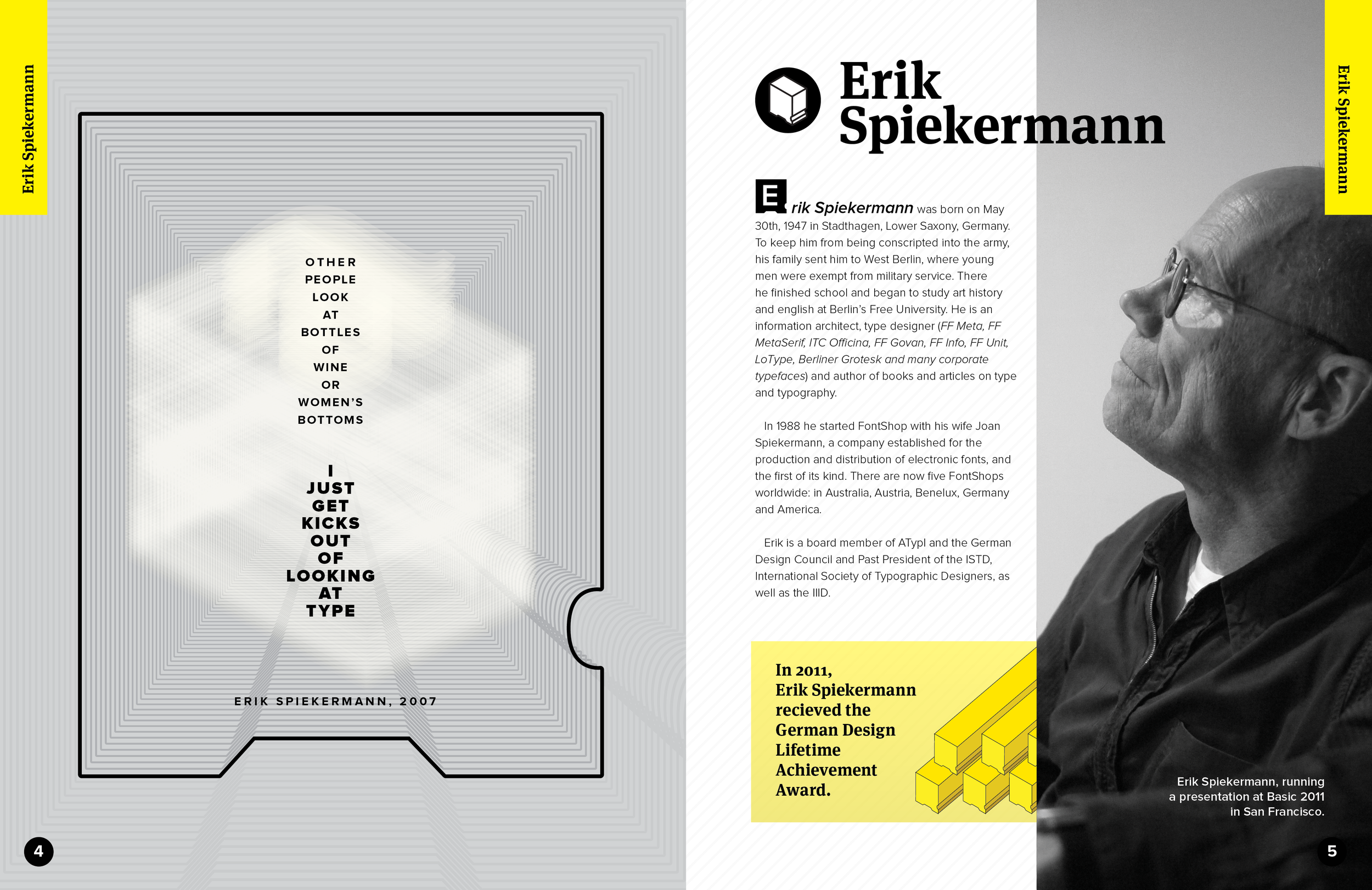 """Spiekermann"" Copy Spread"