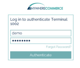 Step 2: - Enter a password and authenticate (once authenticated, changes can be made in Advanced Settings for 48 hours without authenticating again).