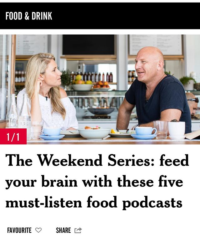 We were pretty chuffed to be listed as one of five must-listen food podcasts by @_weekendedition in the company of greats like David Chang 😱 #listennow #iTunes #podcast #thepassau