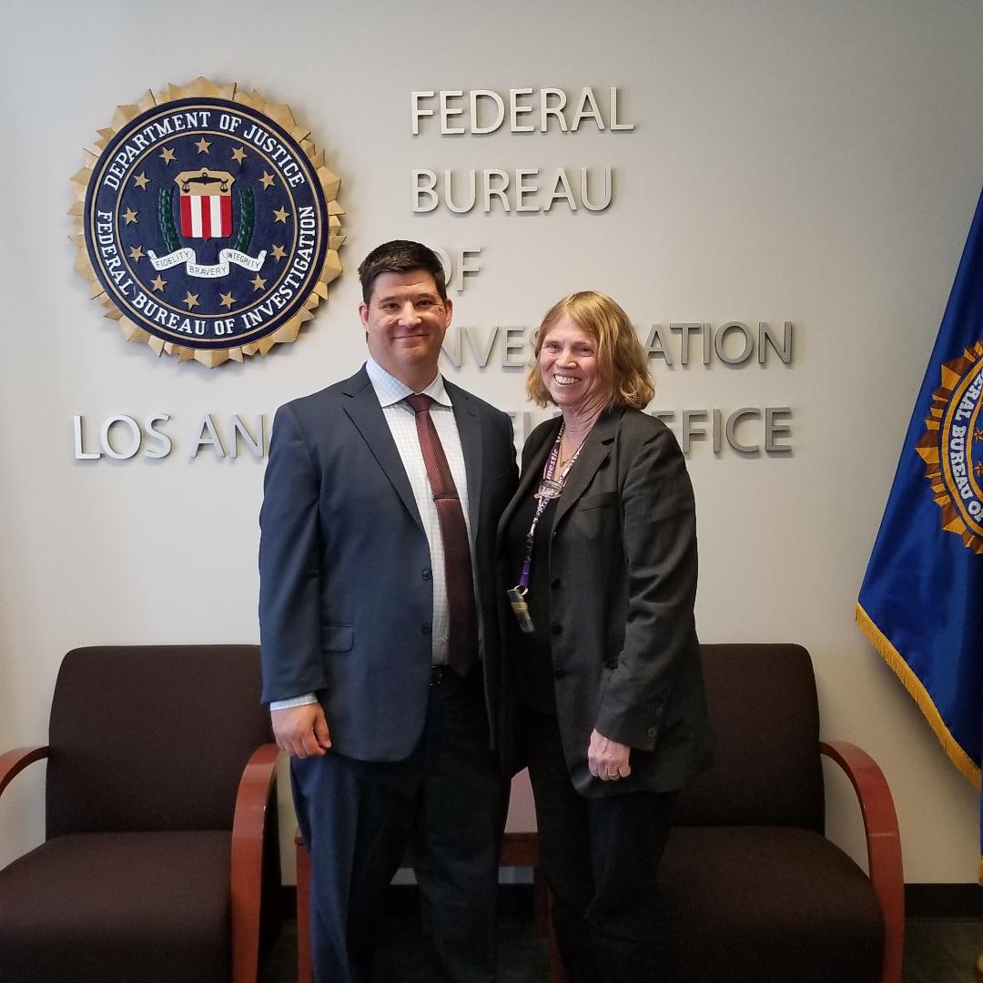 Dr. Lande and FBI Victim Specialist Debbie Deem