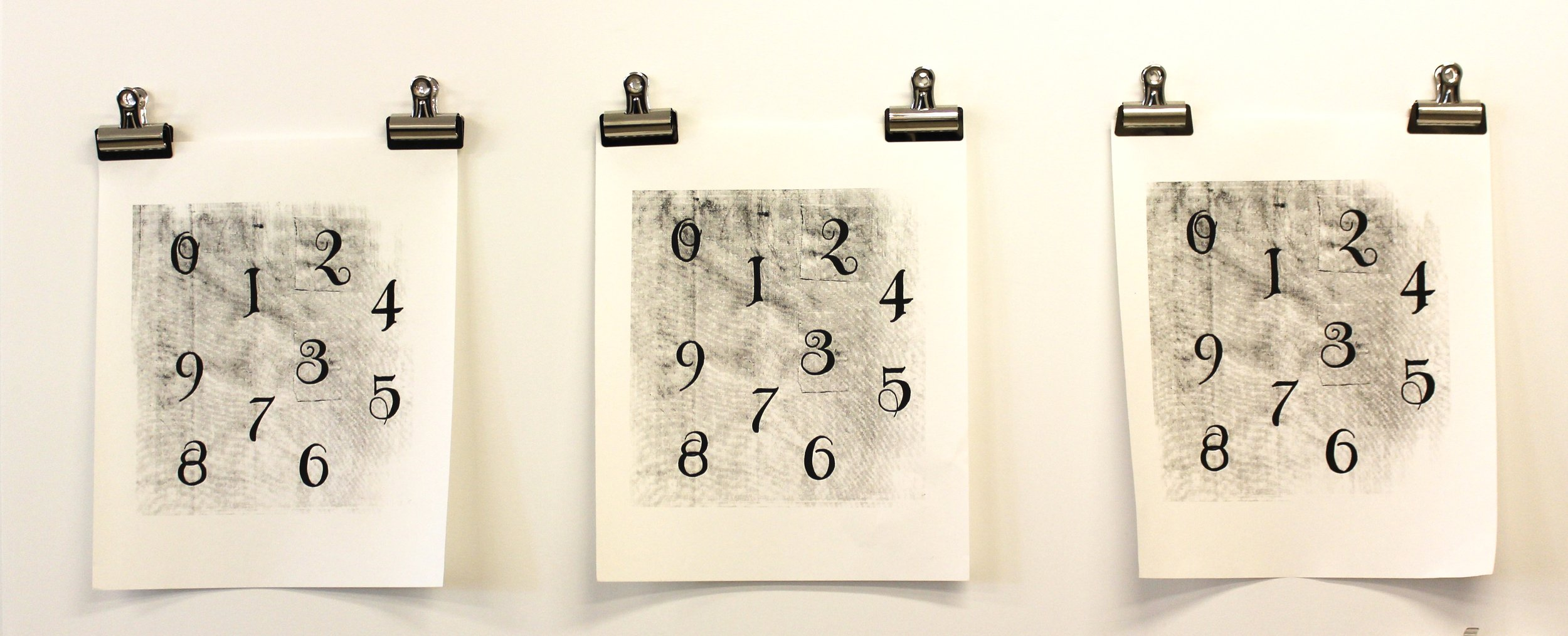 Number Line  (screen-print series)  Turn On & Tune In , Rosie Quick @ Deborah Berke Partners, August 2015