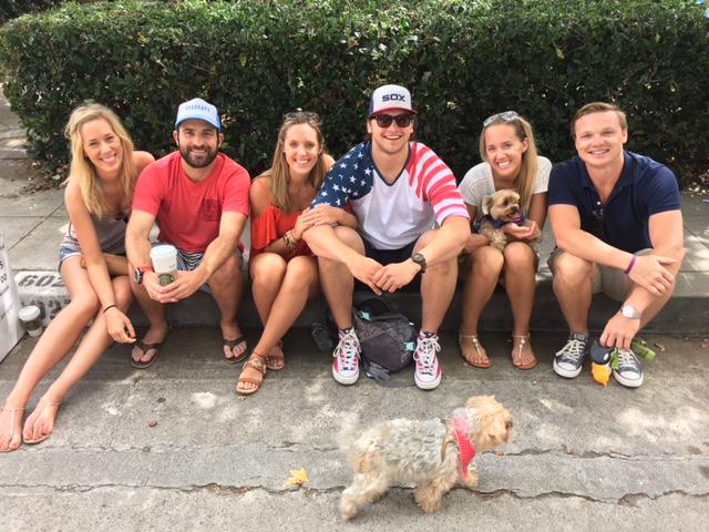 Family photo at Bird Rock's Parade, 7/4/16