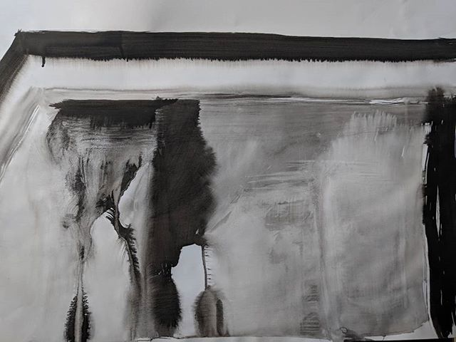 I think I might become an abstract painter. Started my new course 'Experimental Media', our topic for the term is water...is this obvious? Ink on paper . . . . ⠀⠀⠀⠀⠀⠀⠀⠀⠀ #studiosmudge #abstract #mixedmedia#inkonpaper #inkpaintings #water #putneyschoolofart #artcourses #abstractpainting #artforthehome