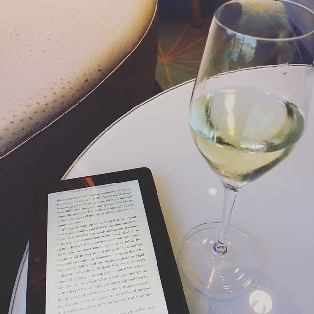 This is what me-time looks like today. We're on the ferry to Finland and it's totally incredible. Massive play areas for the kids, restaurants, deck-bars and this rather lovely champagne bar. McKean and I are taking turns to give each other some time to ourselves and I've decided to take a little time to embrace my feminine divine spirit reading The Book of She whilst sipping on Taittinger. It's been full on mama-mode this holiday and whilst it's been a blast, it's also good to have a bit of time to reconnect with myself and not be carrying three million snacks, wipes, extra colouring pens and paper, spare cuddlies... oh hang on... they're still on my bag. Ah well, peace is mine for the next little while at least.  What does your me-time look like today? Xxx  #essentialselfcare #metime #mewithoutthekids #swedentofinland #vikingcruise #hangingwiththevikings #bookofshe #taittinger #ilovechampagne #epicholidays #andbreathe