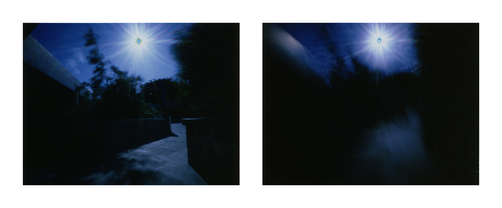 """UH Manoa Art Department at 970mph"" 2016.  Archival Pigment Print from Fujifilm FP100-C Instant Photographs. 17x44"""