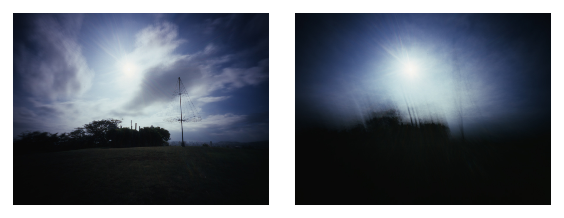"""Kaimuki at 970mph"" 2016.  Archival Pigment Print from 4x5"" Color Slide Film.  17x44"""