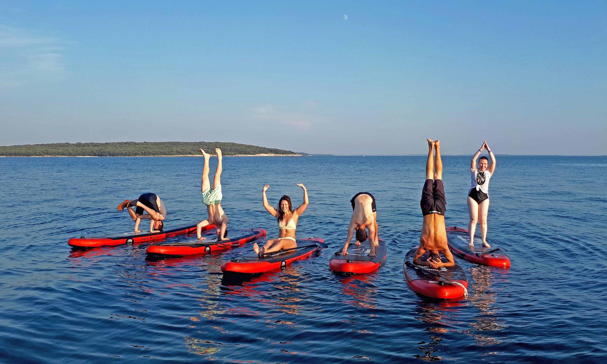 Five Elements - Sup yoga - Yoga & Adventure retreat in Croatia