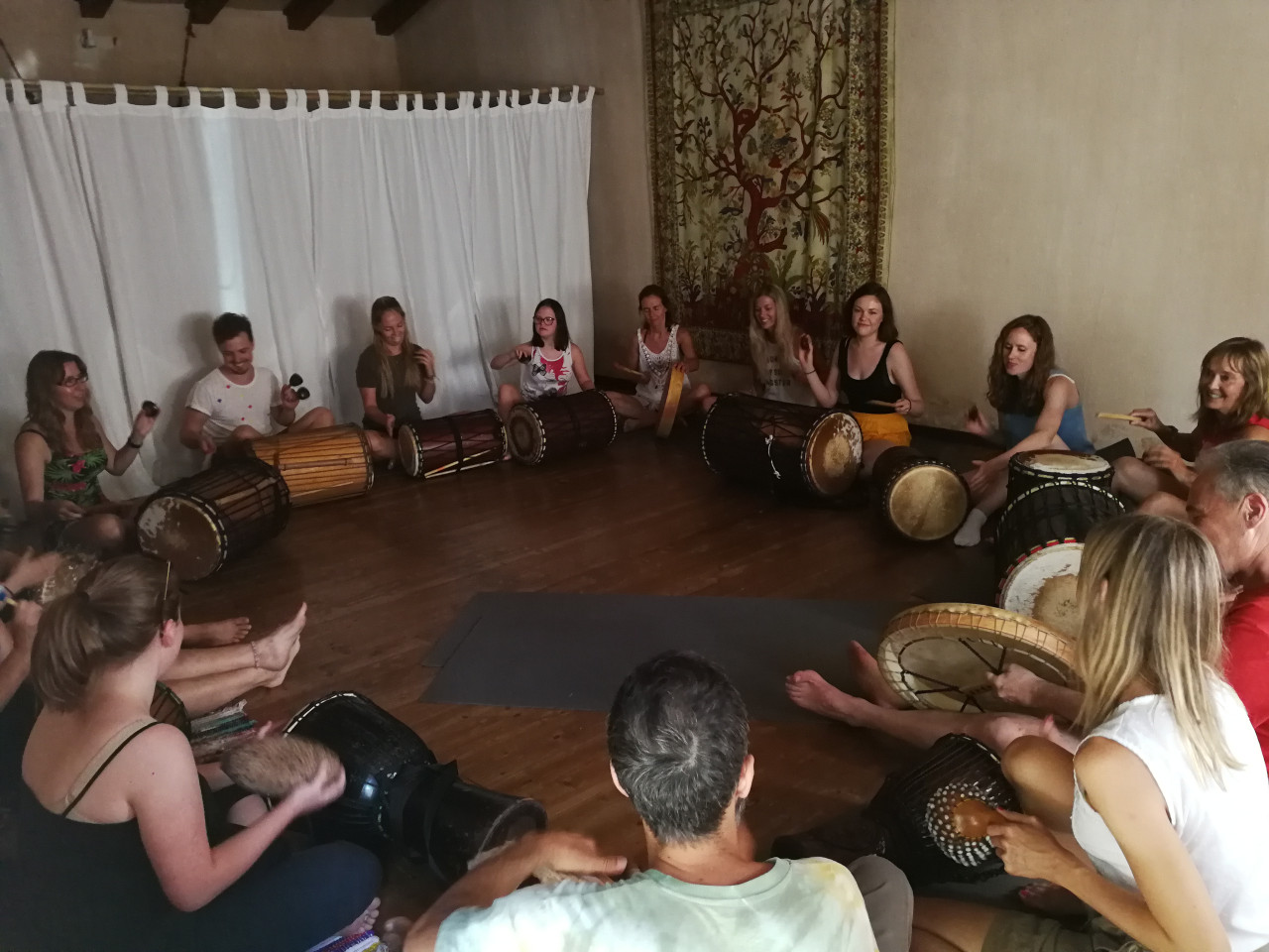 Drumming, meditation Rovinj, Croatia