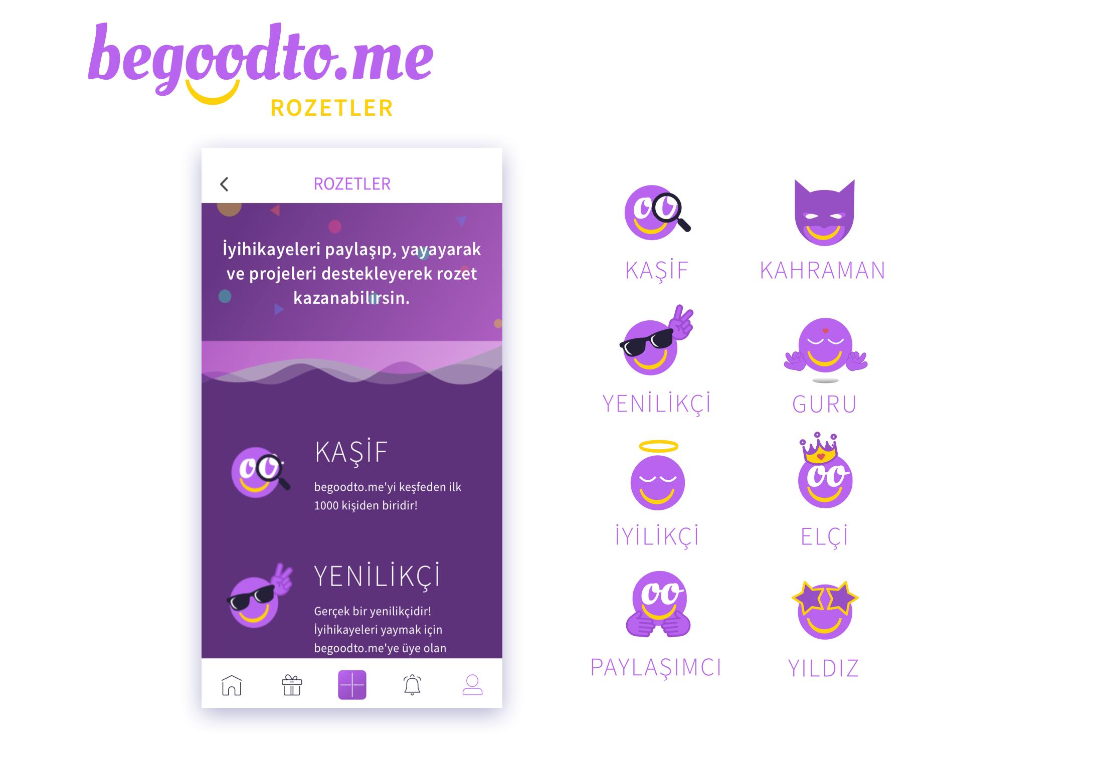 Badge Designs for begoodto.me