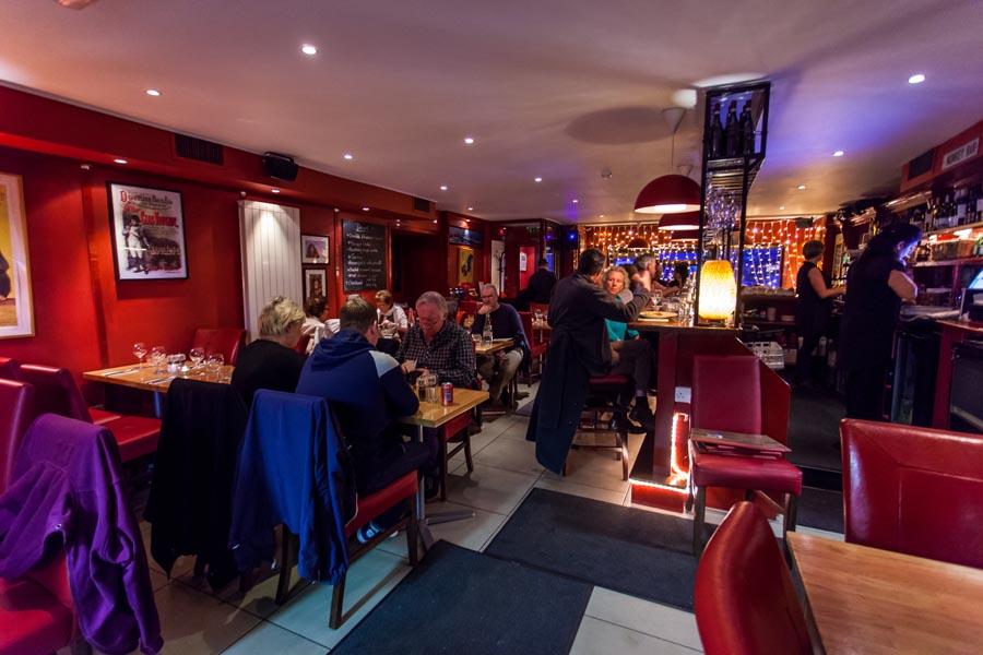 Brass monkey restaurant dining room