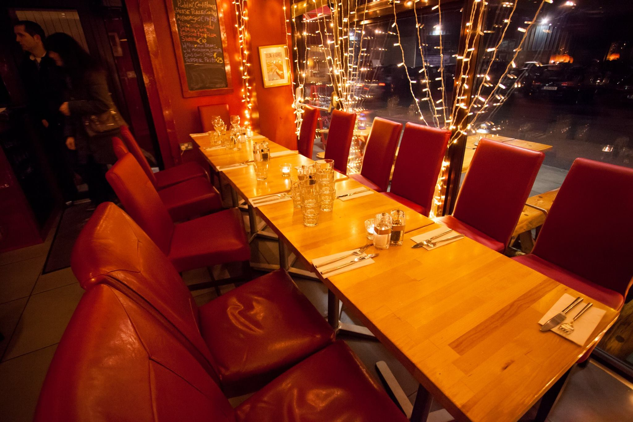 christmas party at the brass monkey seafood restaurant, Howth