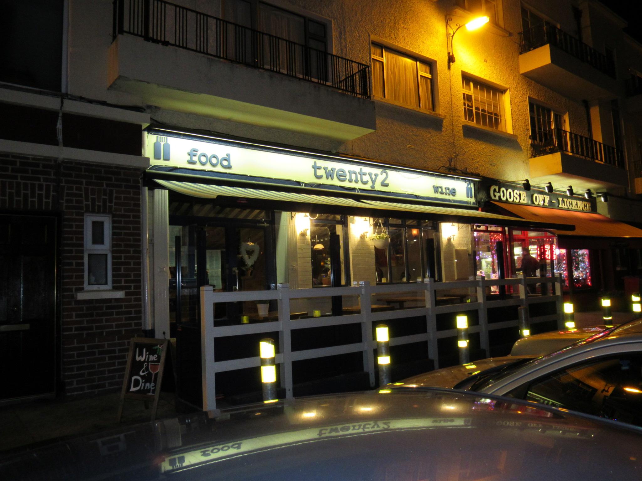 twenty2 restaurant, dublin 9