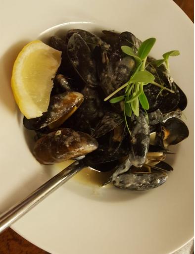 mussels at twenty2 restaurant, dublin 9
