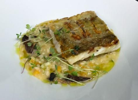Roast cod. Wild mushroom, chervil & butternut squash risotto.png