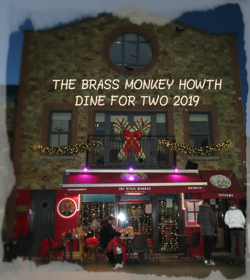 €50 DINE FOR TWO 2019 DINING OFFER brass monkey howth