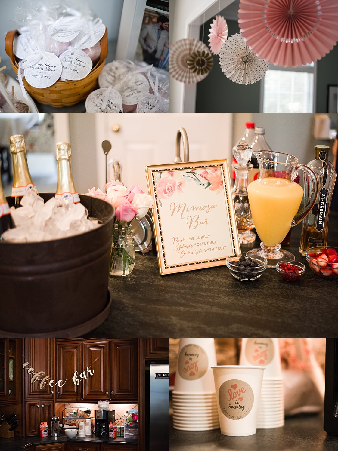 brunch and bubbly bridal shower decor