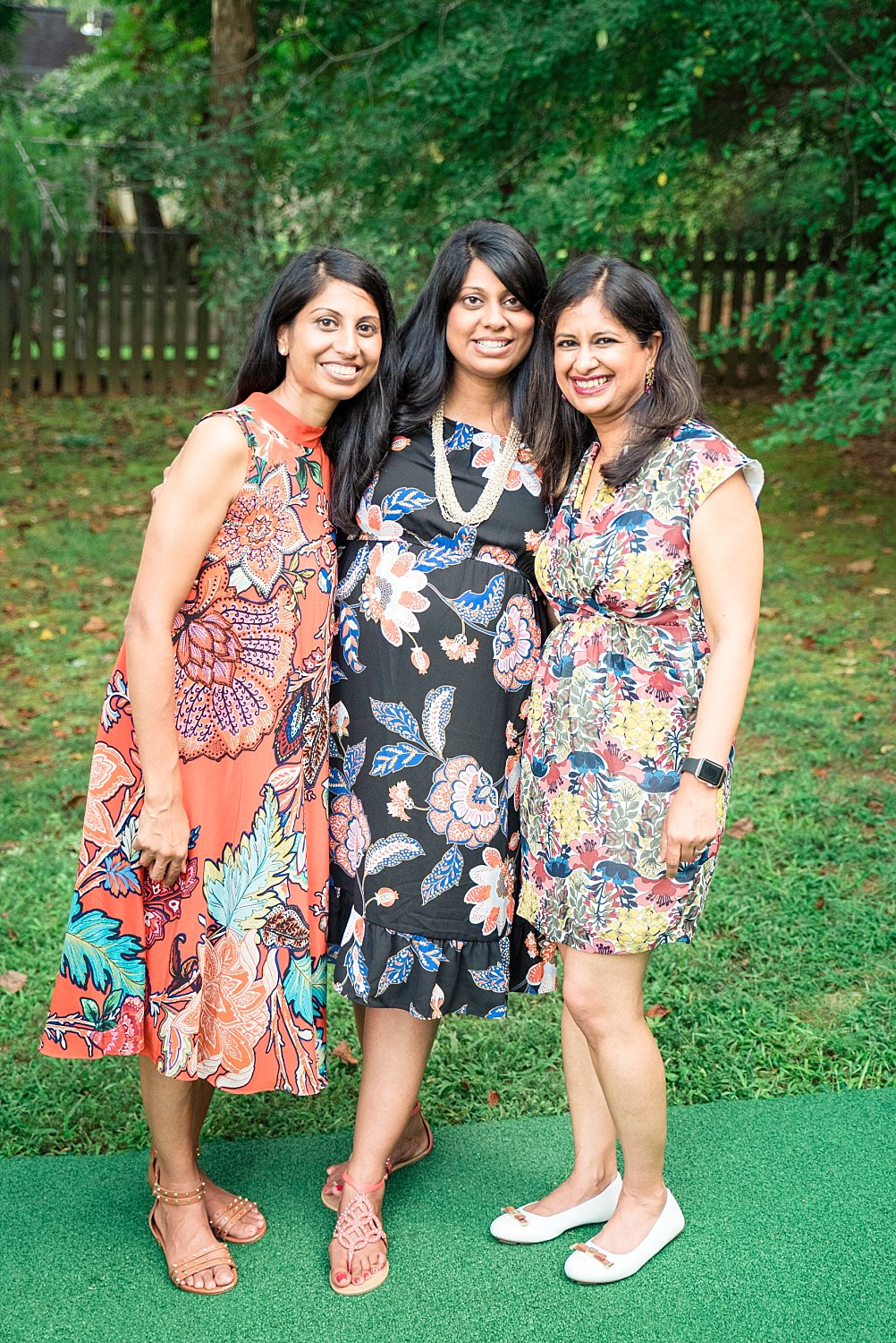 baby shower hostesses with mom to be