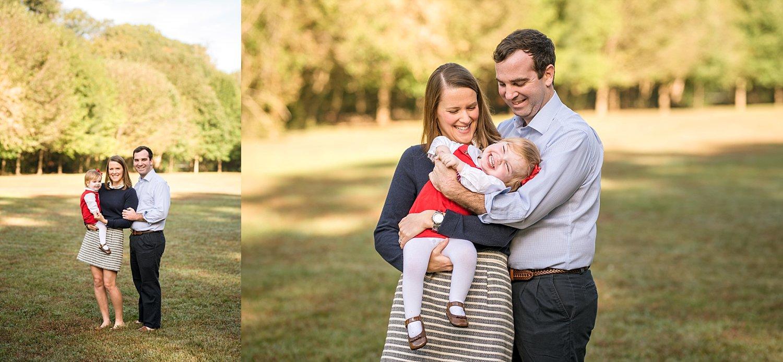 Family of 3 photos at Tanyard Creek Park Atlanta