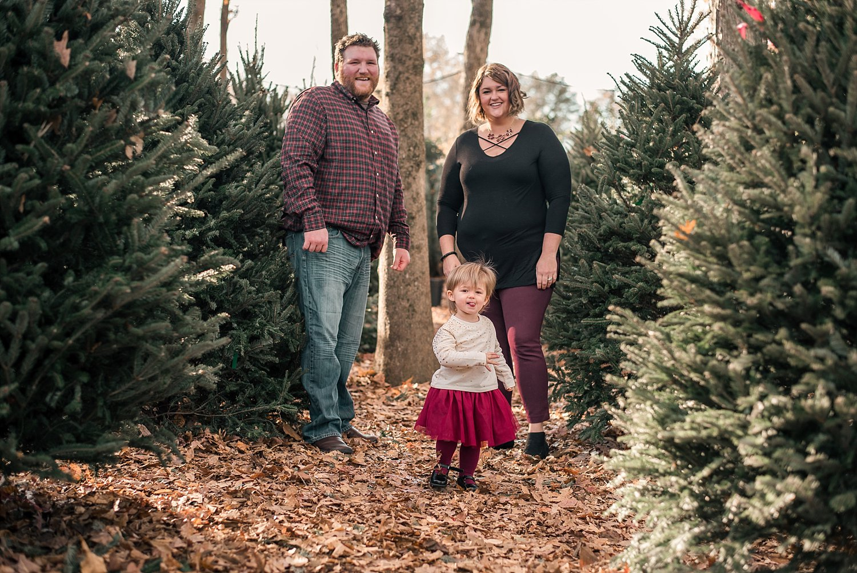 Family of 3 in trees at Scottsdale Farms, Milton, GA