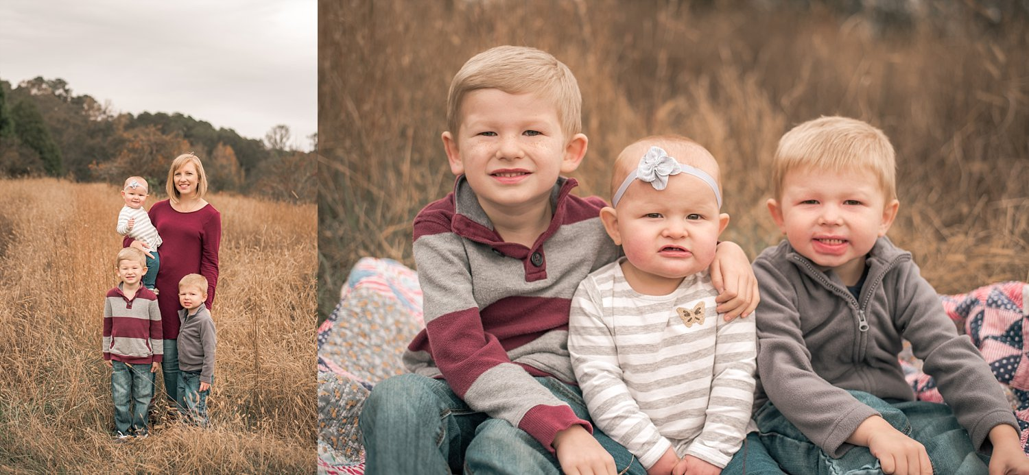 family in field at Berry Patch Farms | 3 best locations for your next family session | adriennelouisephotography.com