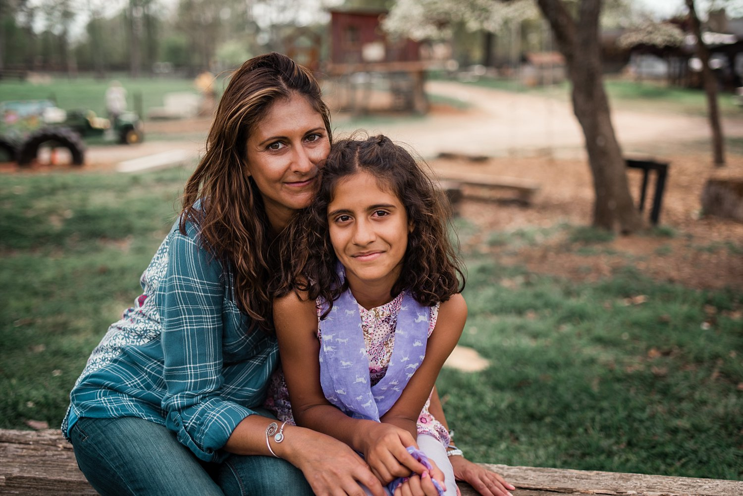 mother and daughter smiling at Scottsdale Farms in Milton, GA