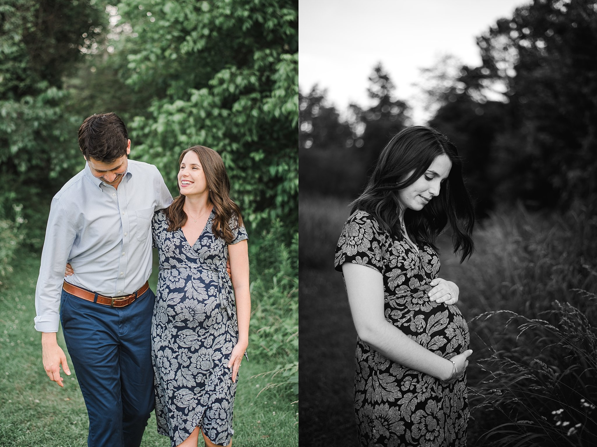 Expecting couple at Green Meadows Preserve Marietta, GA