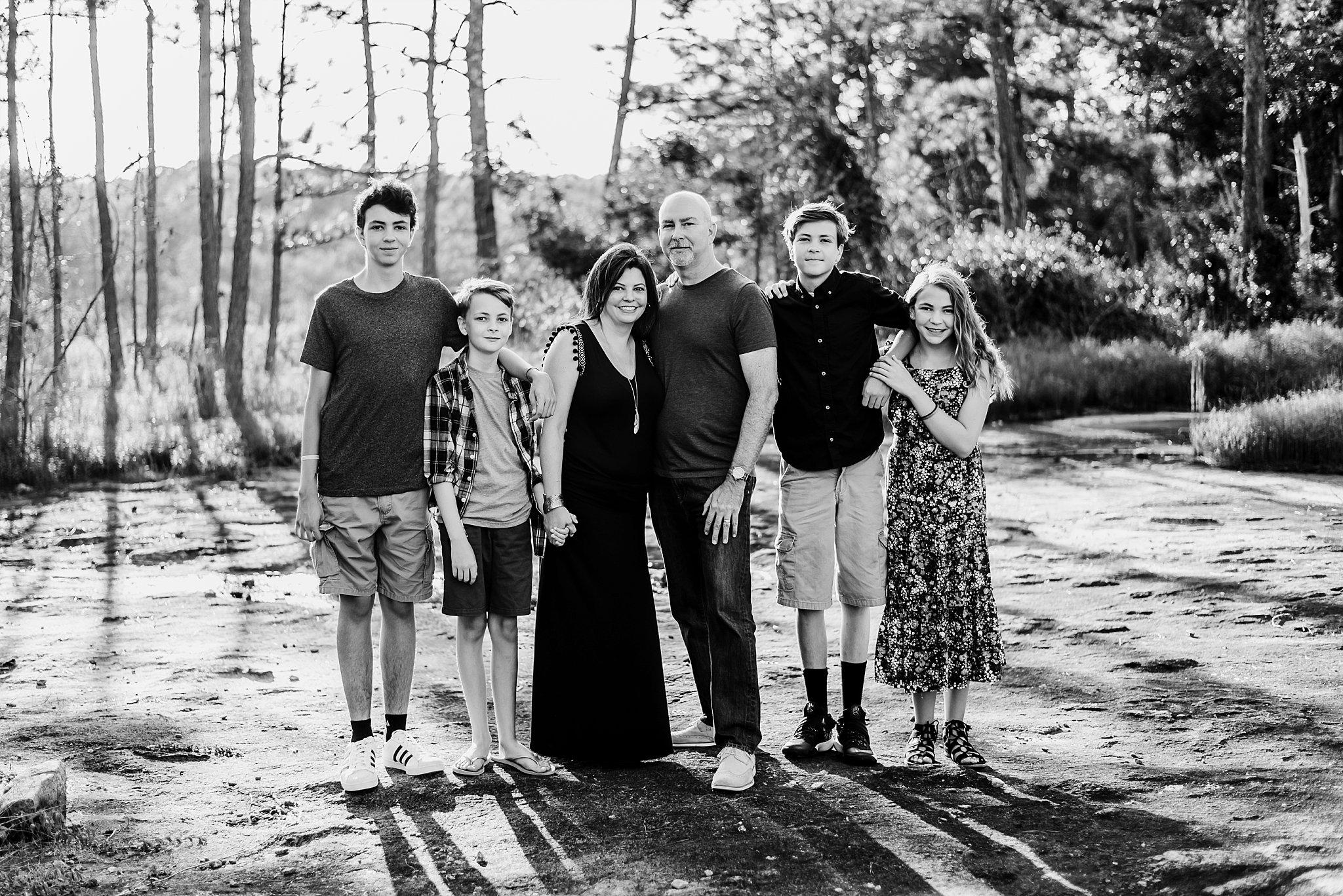 Family of 6 at Arabia Mountain Atlanta