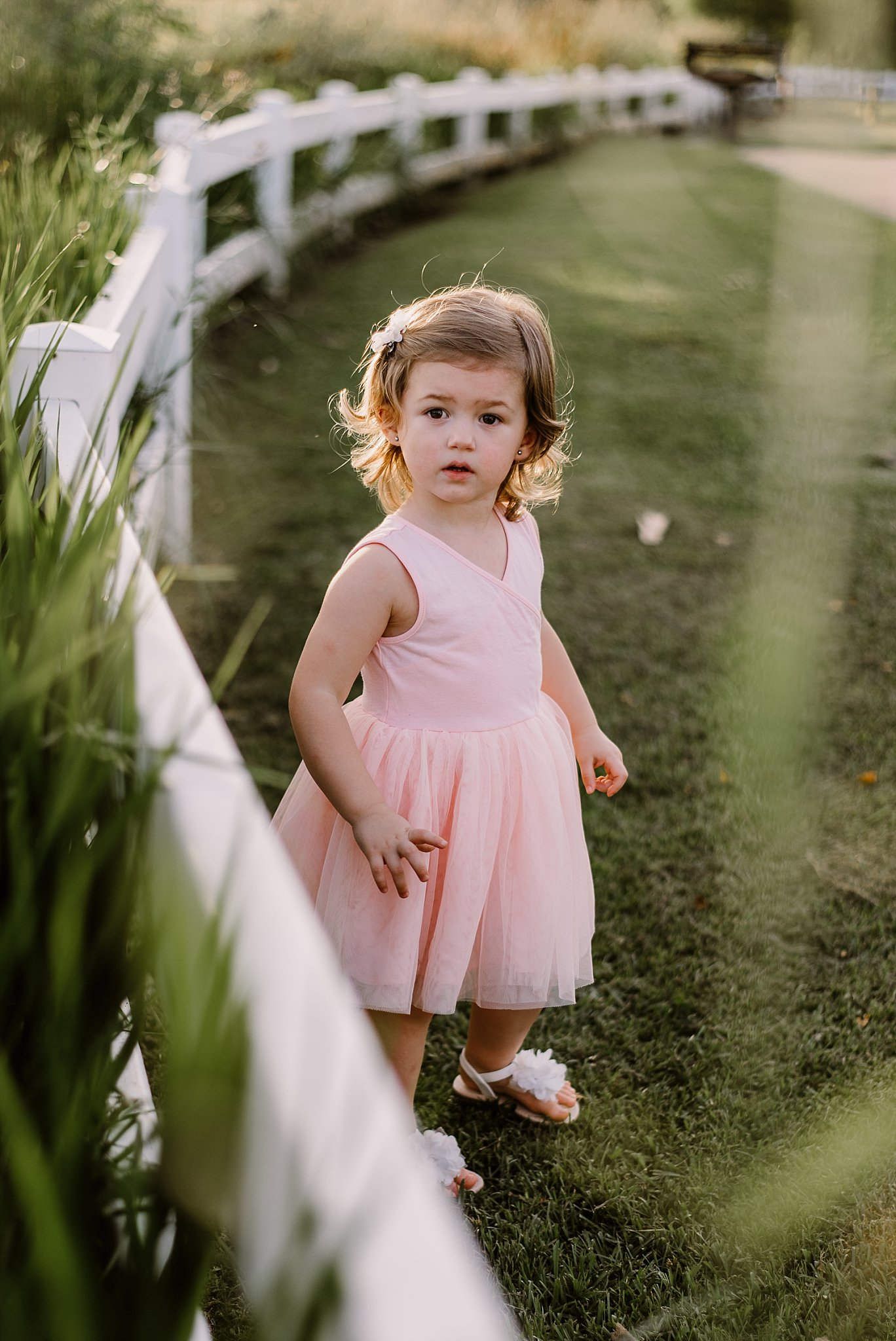 toddler girl in pink dress Cauble Park Lake Acworth