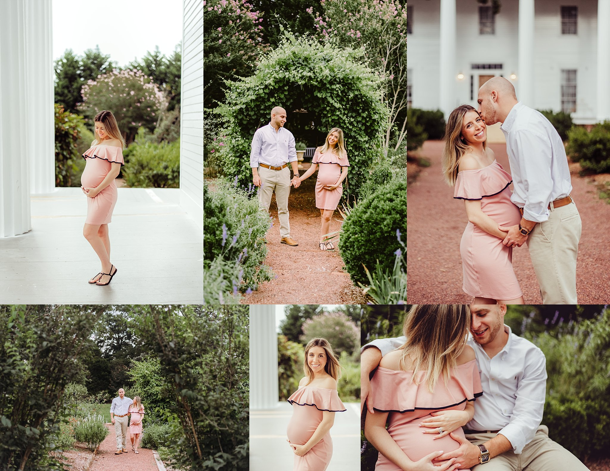 Maternity photo shoot at Barrington Hall in Historic Downtown Roswell, GA