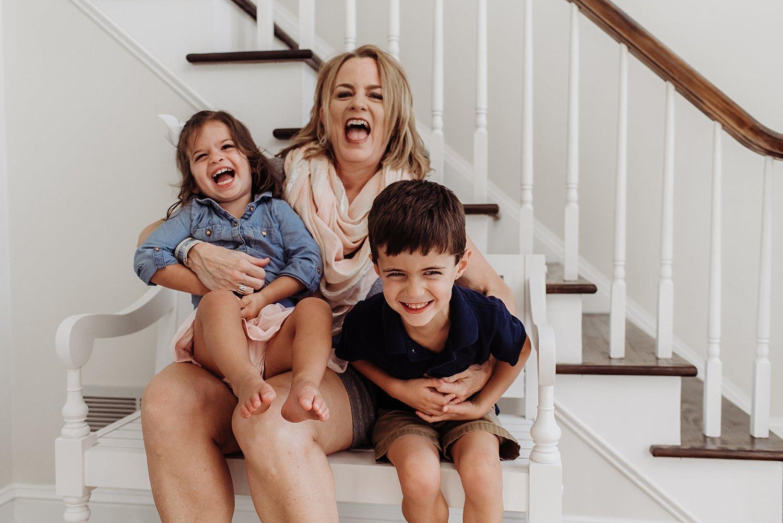 kids laughing with grandma