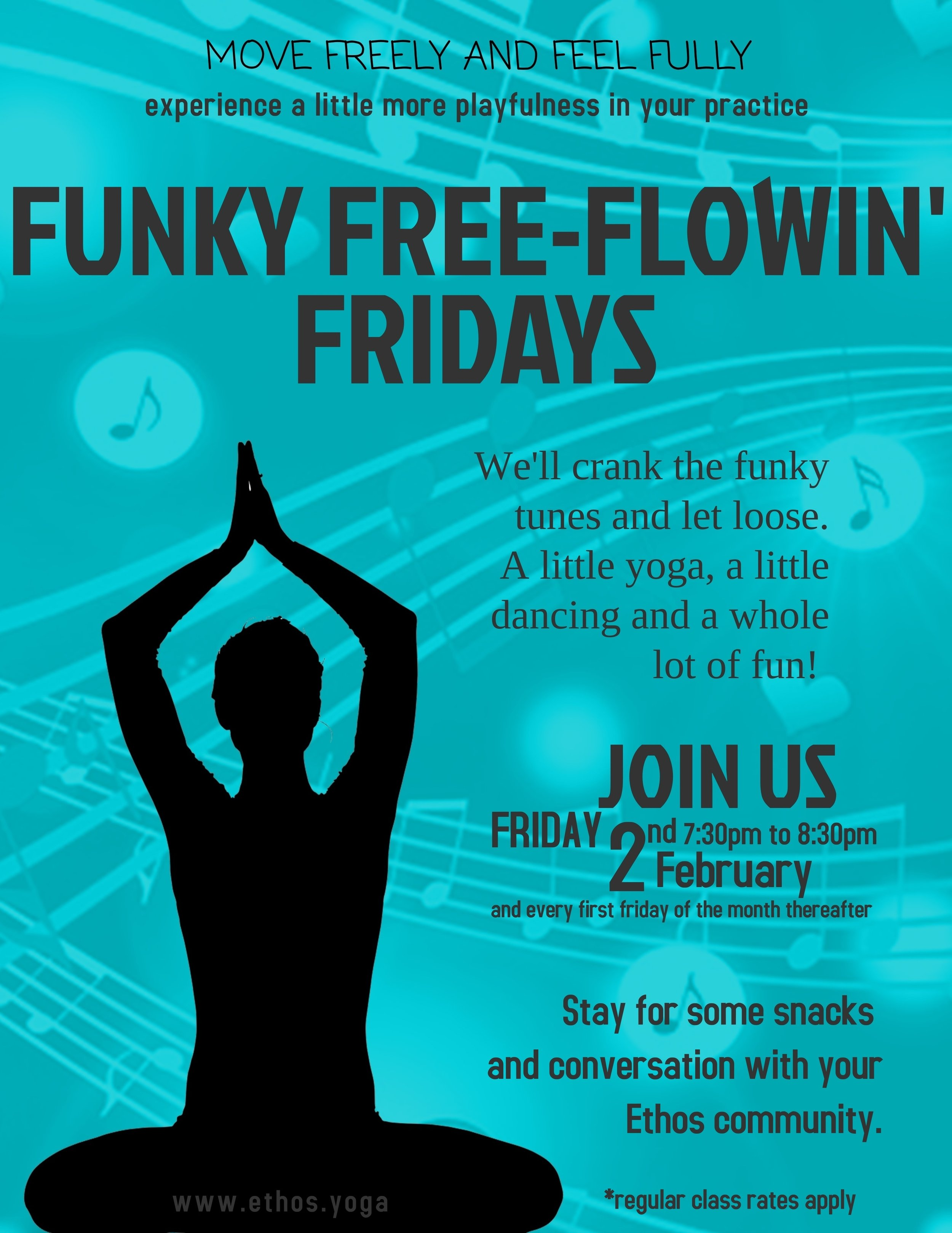 No need to sign up ahead of time, just bring your funky self!