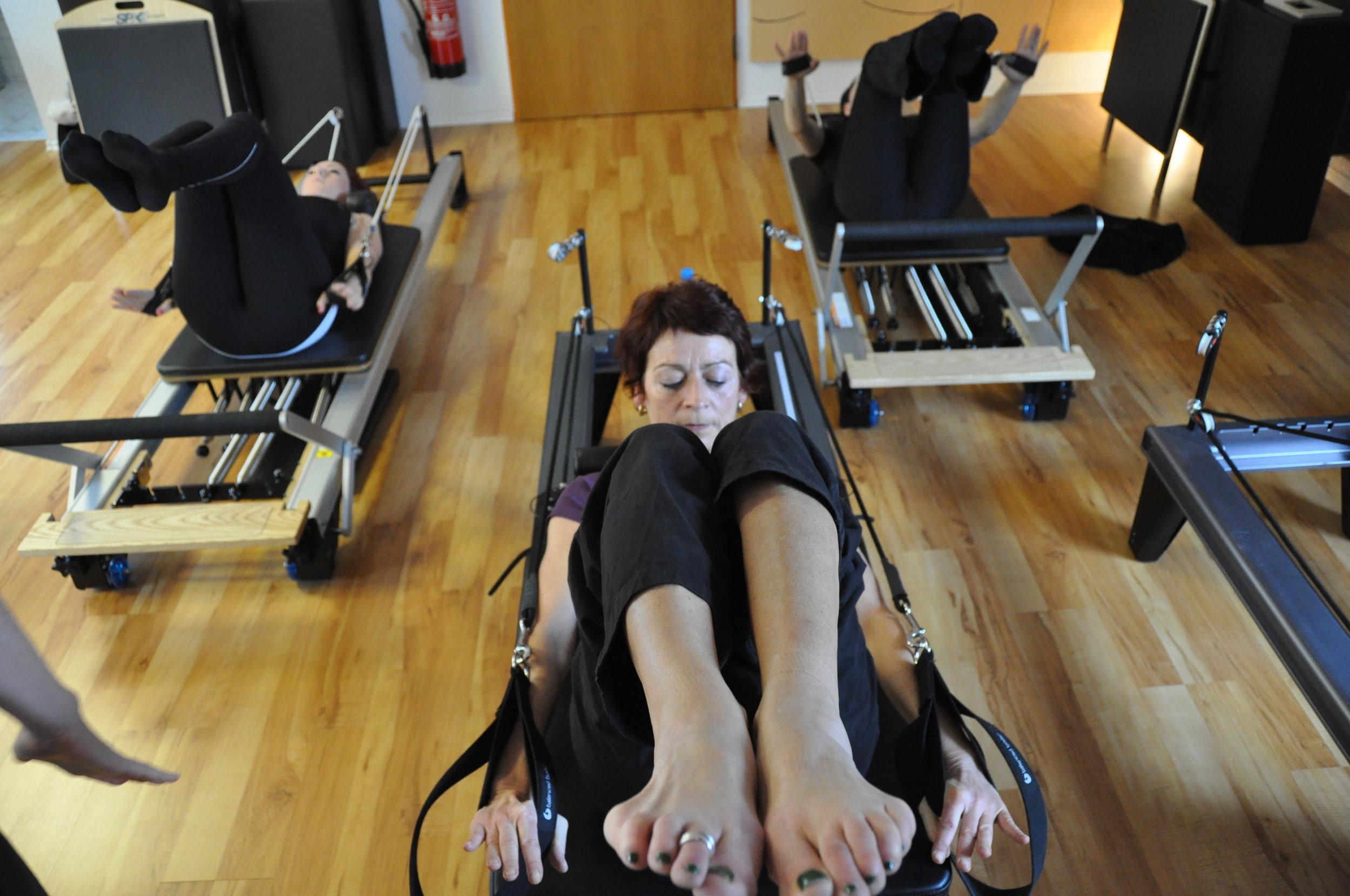 Coordination am Pilates Reformer