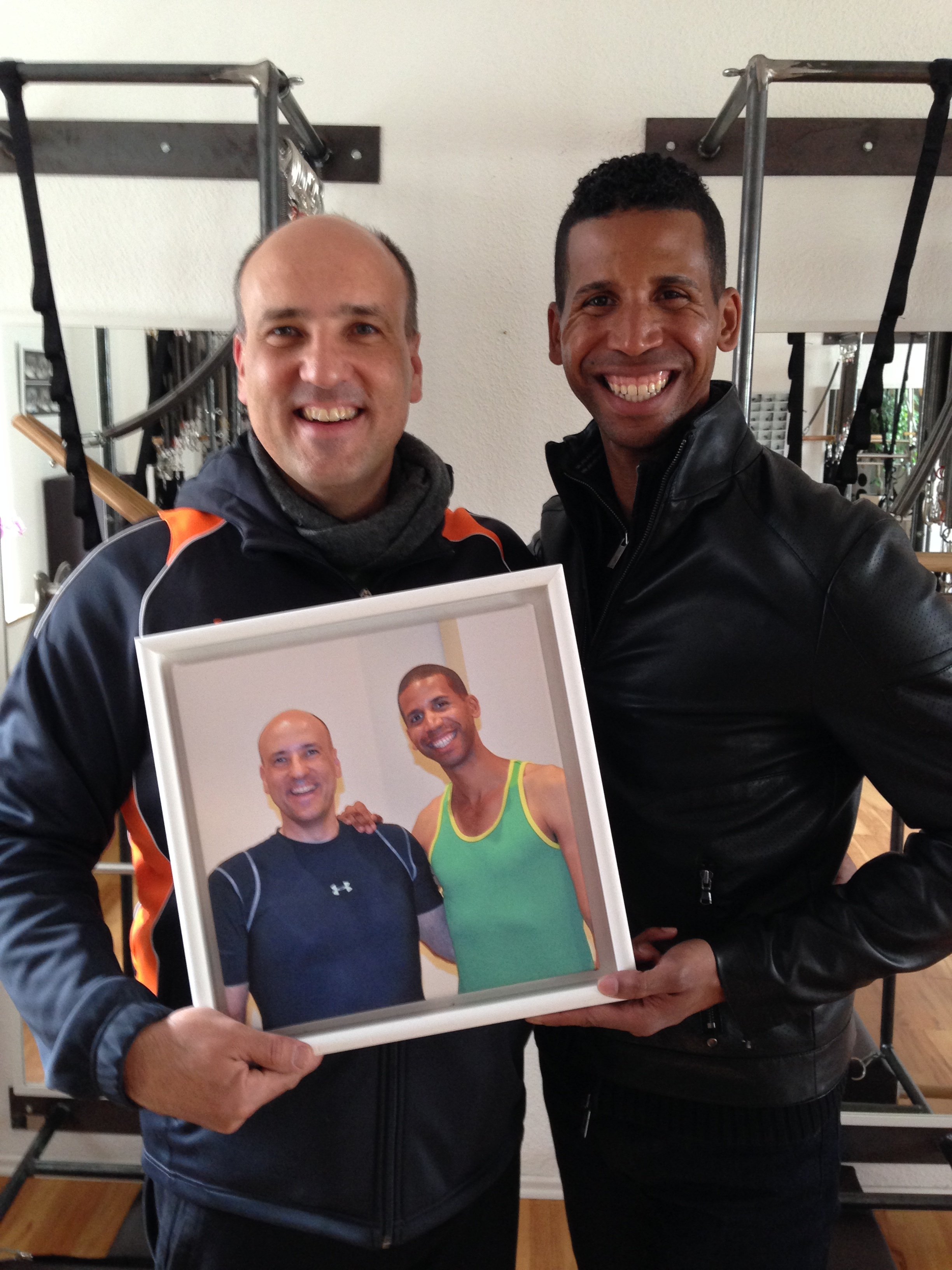 Brett Howard und Reiner Grootenhuis im Mai 2015 im pilates-powers Studio