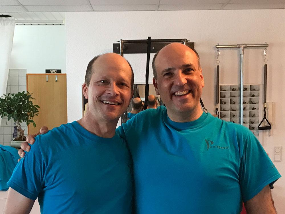 Brett Miller von Pilates Intel und Reiner Grootenhuis pilates-powers