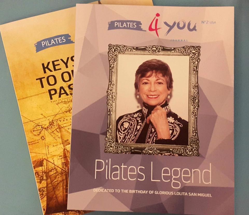 Die zwei ersten Ausgaben von Pilates4you