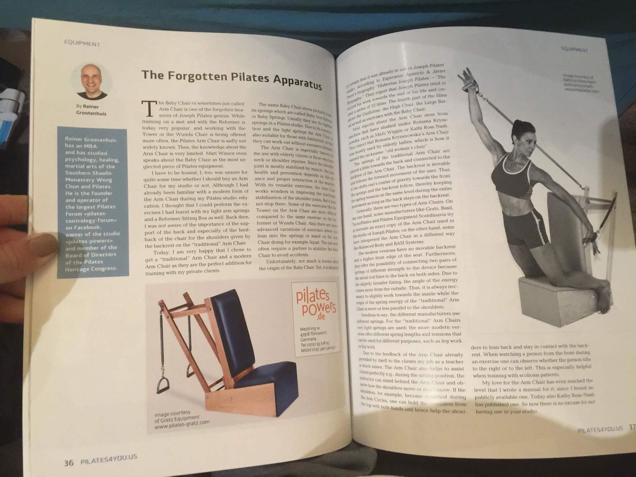 Pilates4you Article über den Arm Chair