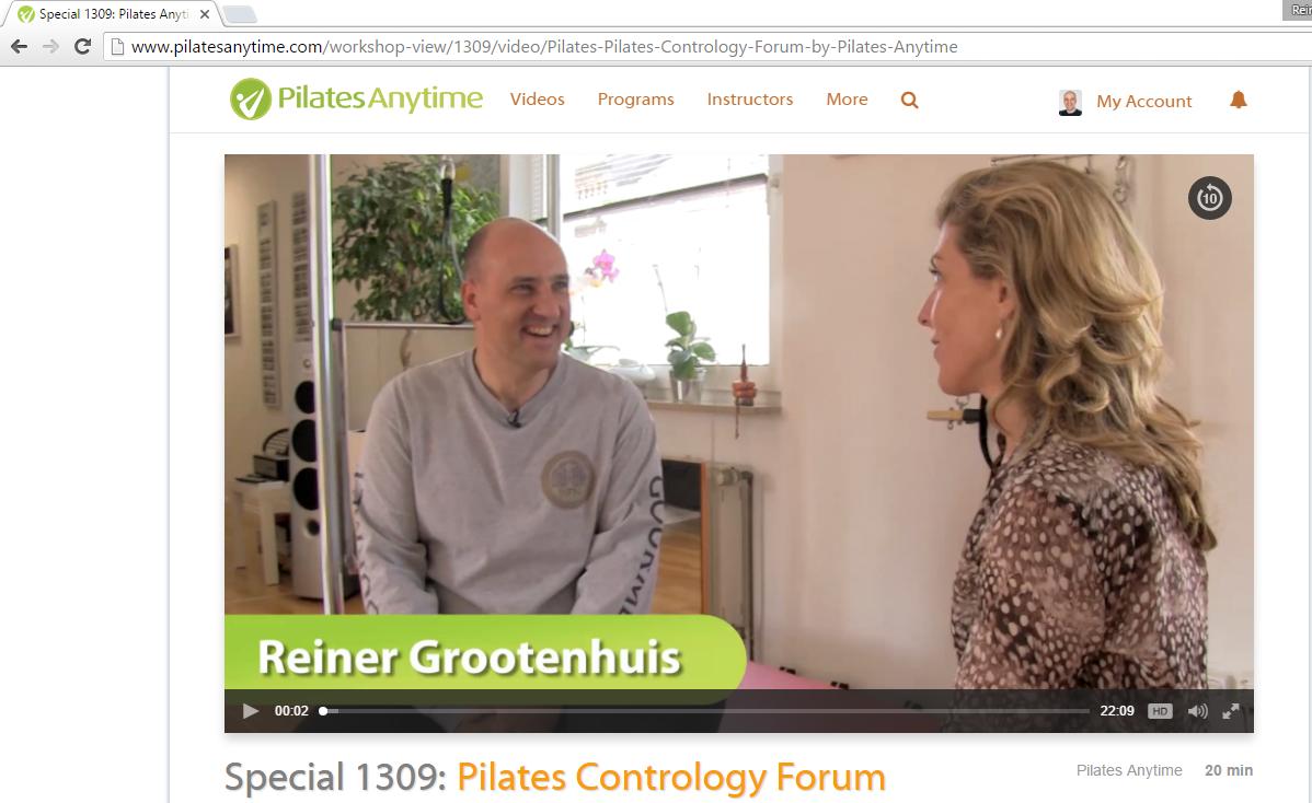 Interview von Kristi Cooper mit Reiner Grootenhuis für Pilates Anytime