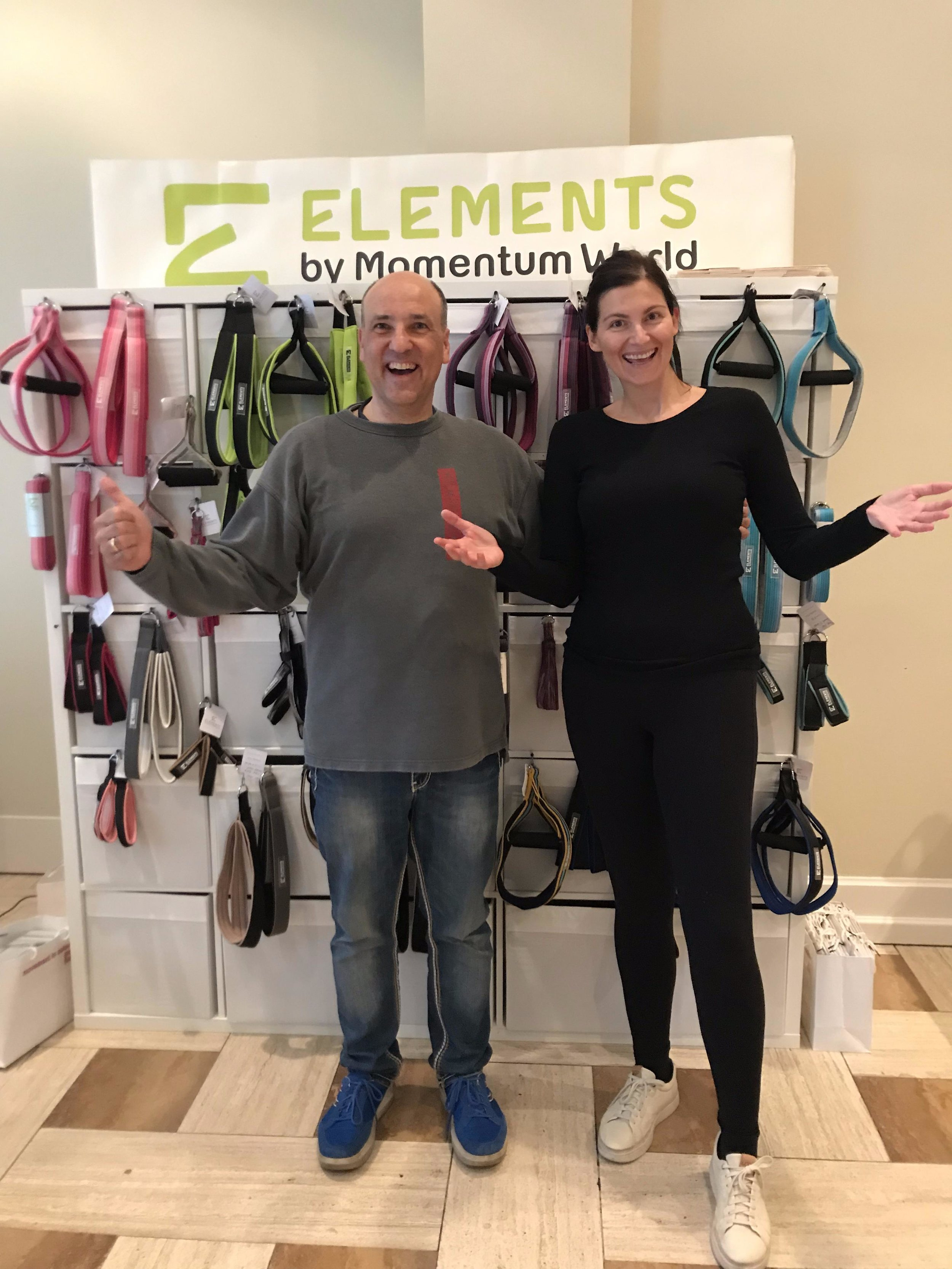 Ana Mariana Sosic from Elements was there, too. From here are the double loops in the pilates-powers Reformer room.