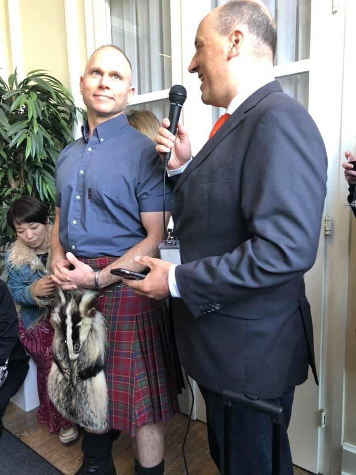 The Man in the Scottish Skirt is Joakim Valsinger.