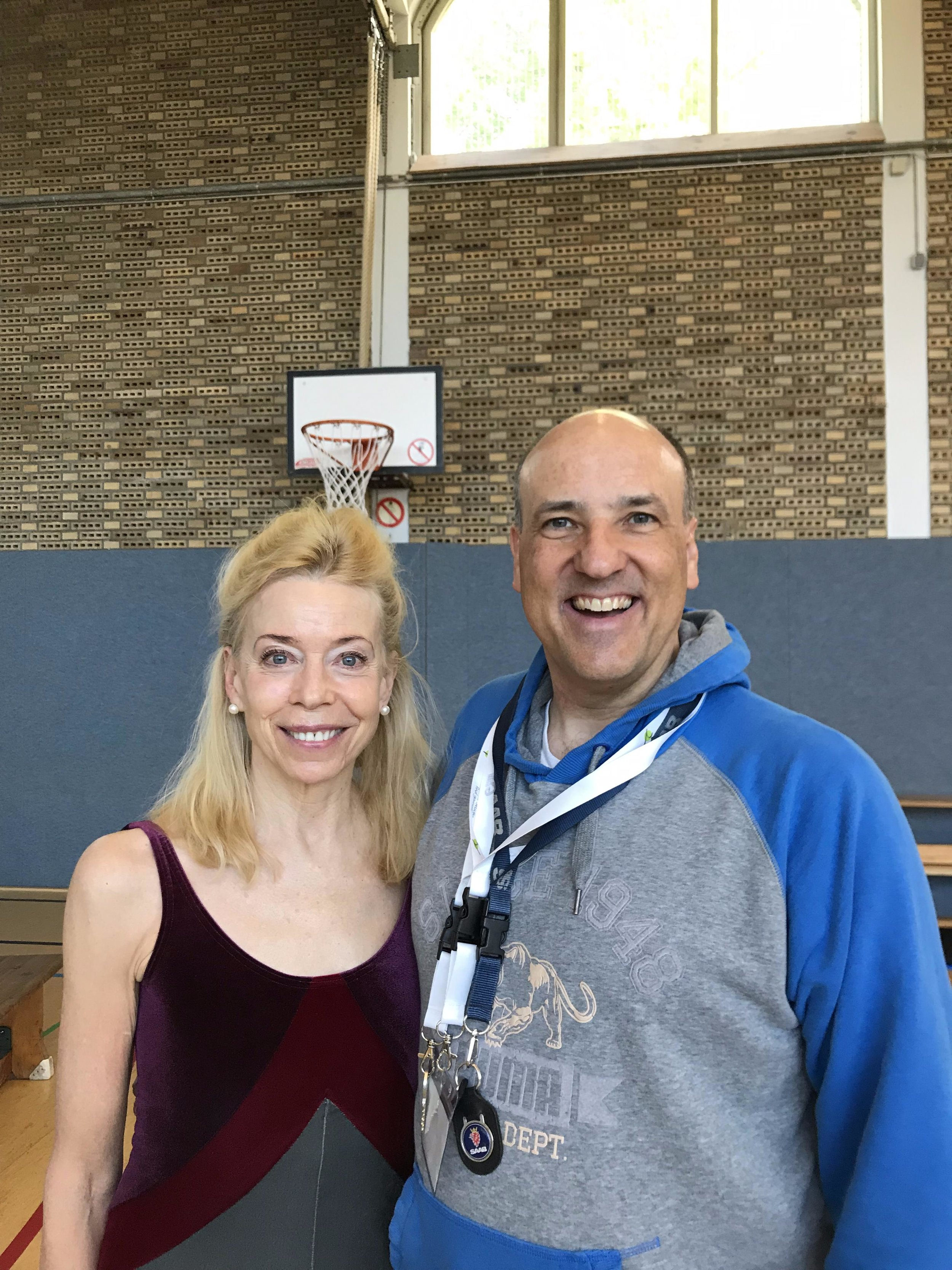 Elizabeth Larkam and me after the workshops.