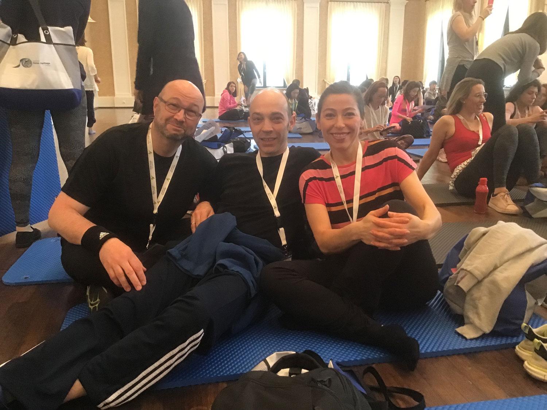 Ralf Bornat, Gianfranco and Chrissoula - all three are trainees at pilates-powers.
