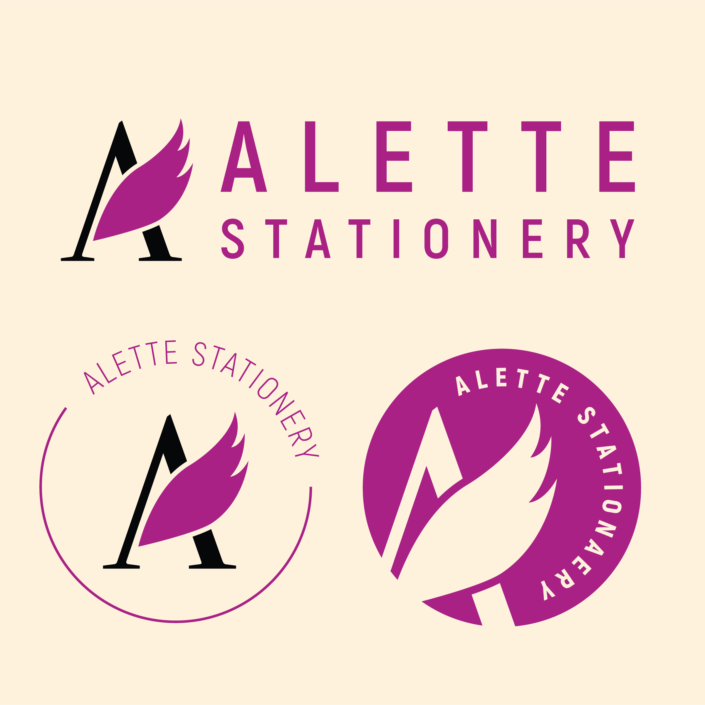 Project: Branding for Alette Stationery -