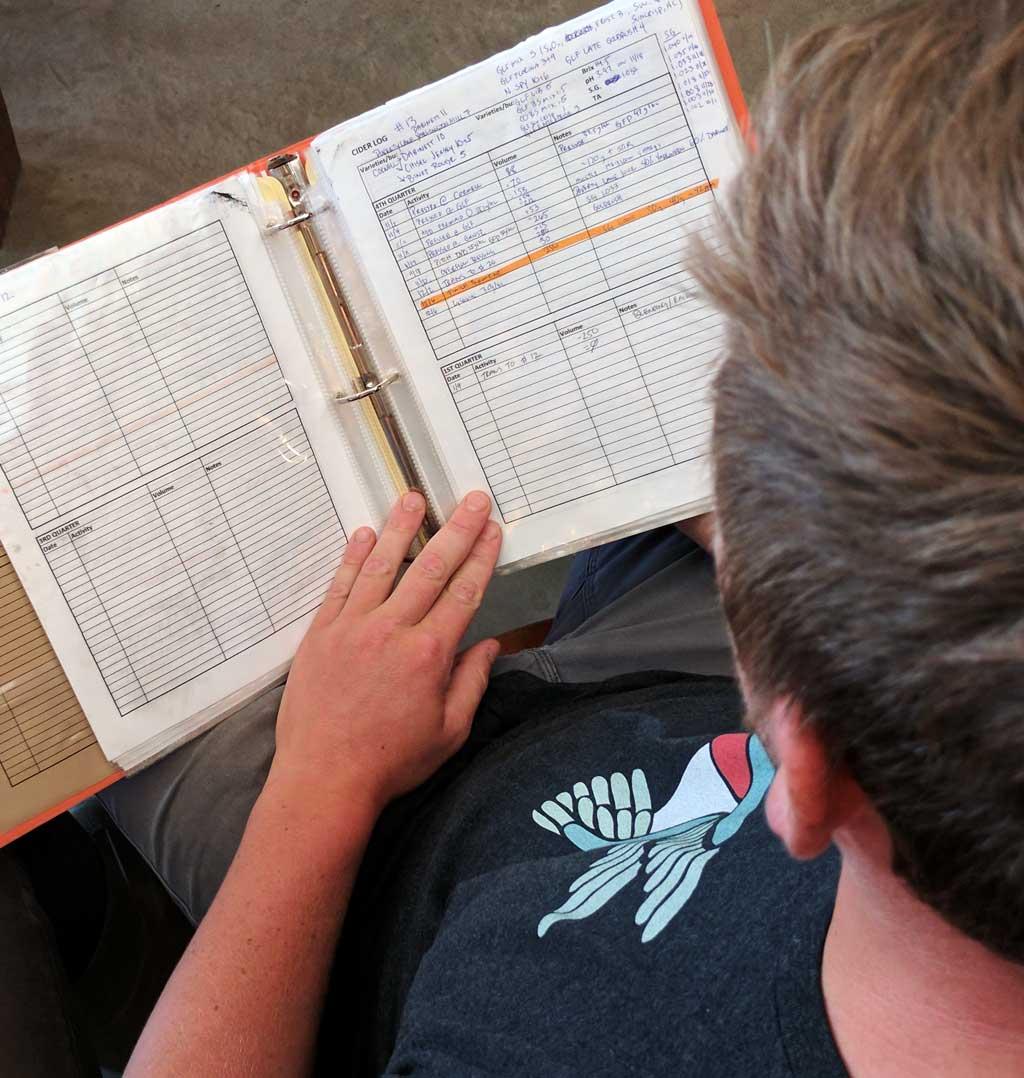 Fermentation notebook