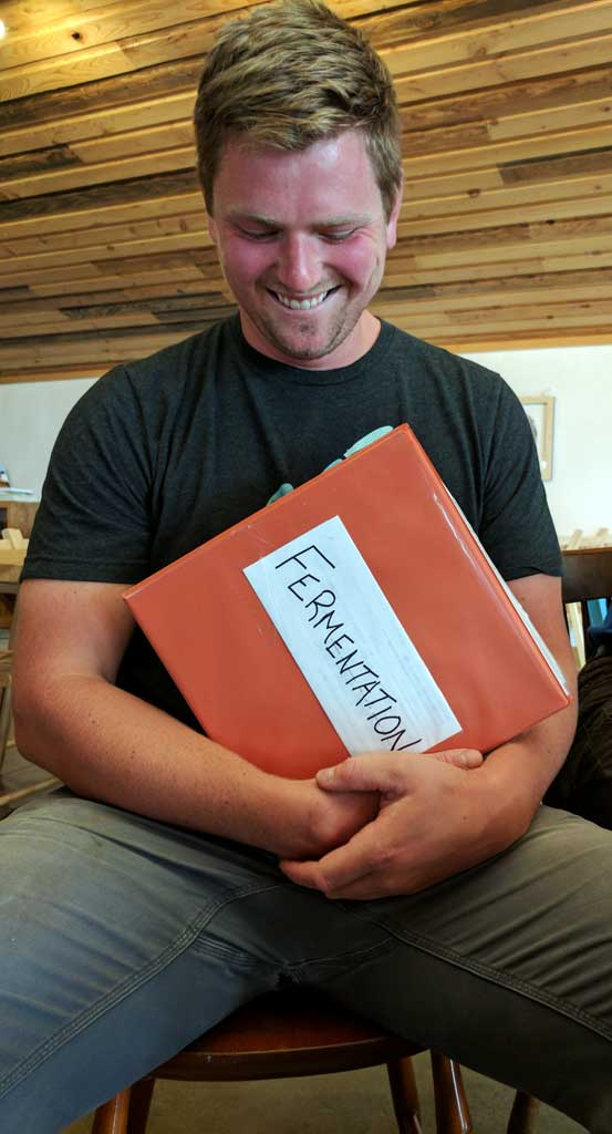 Cidermaker Jimmy Miller and his fermentation notes
