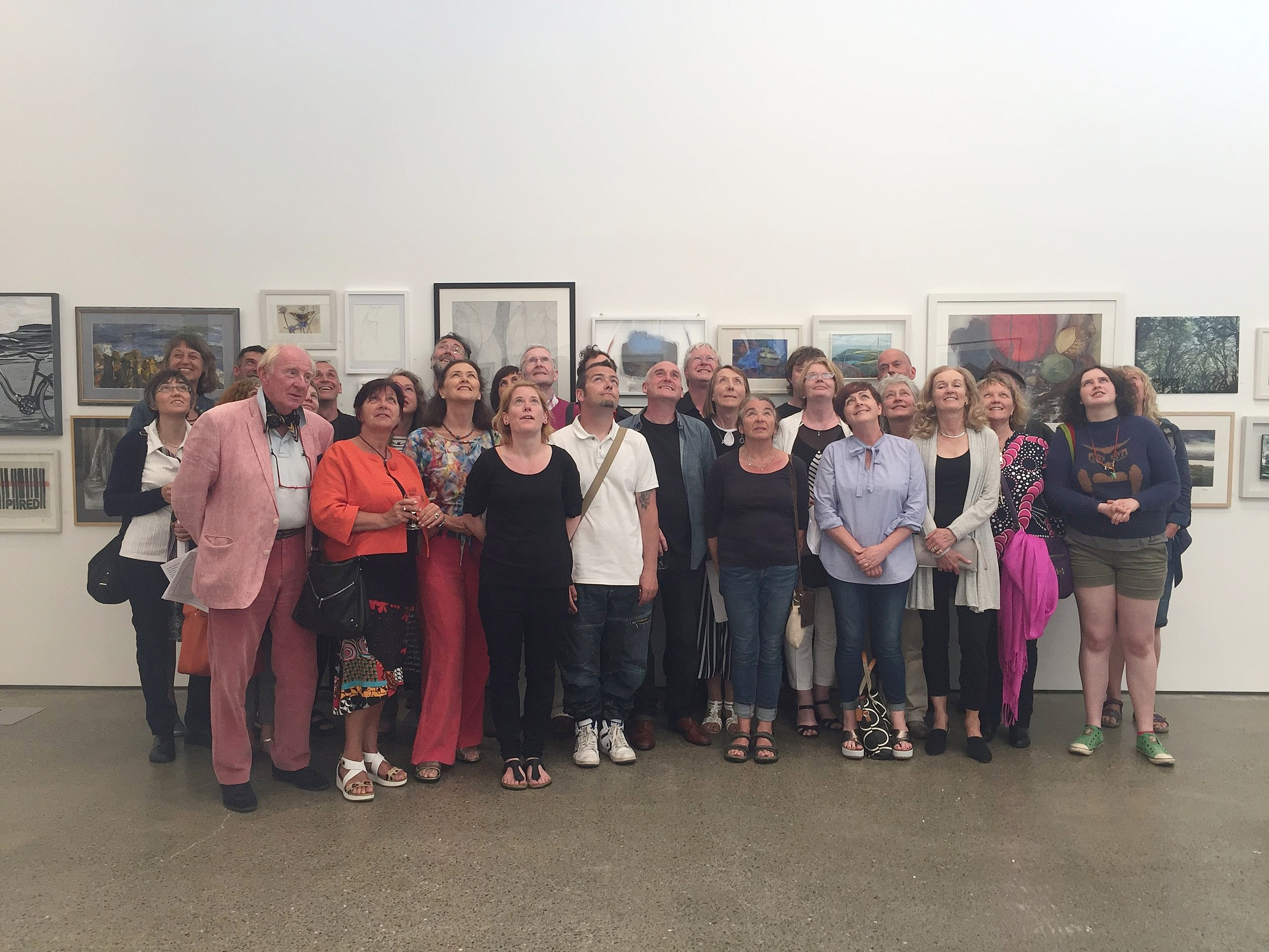 Some of the Members whose work is on show.