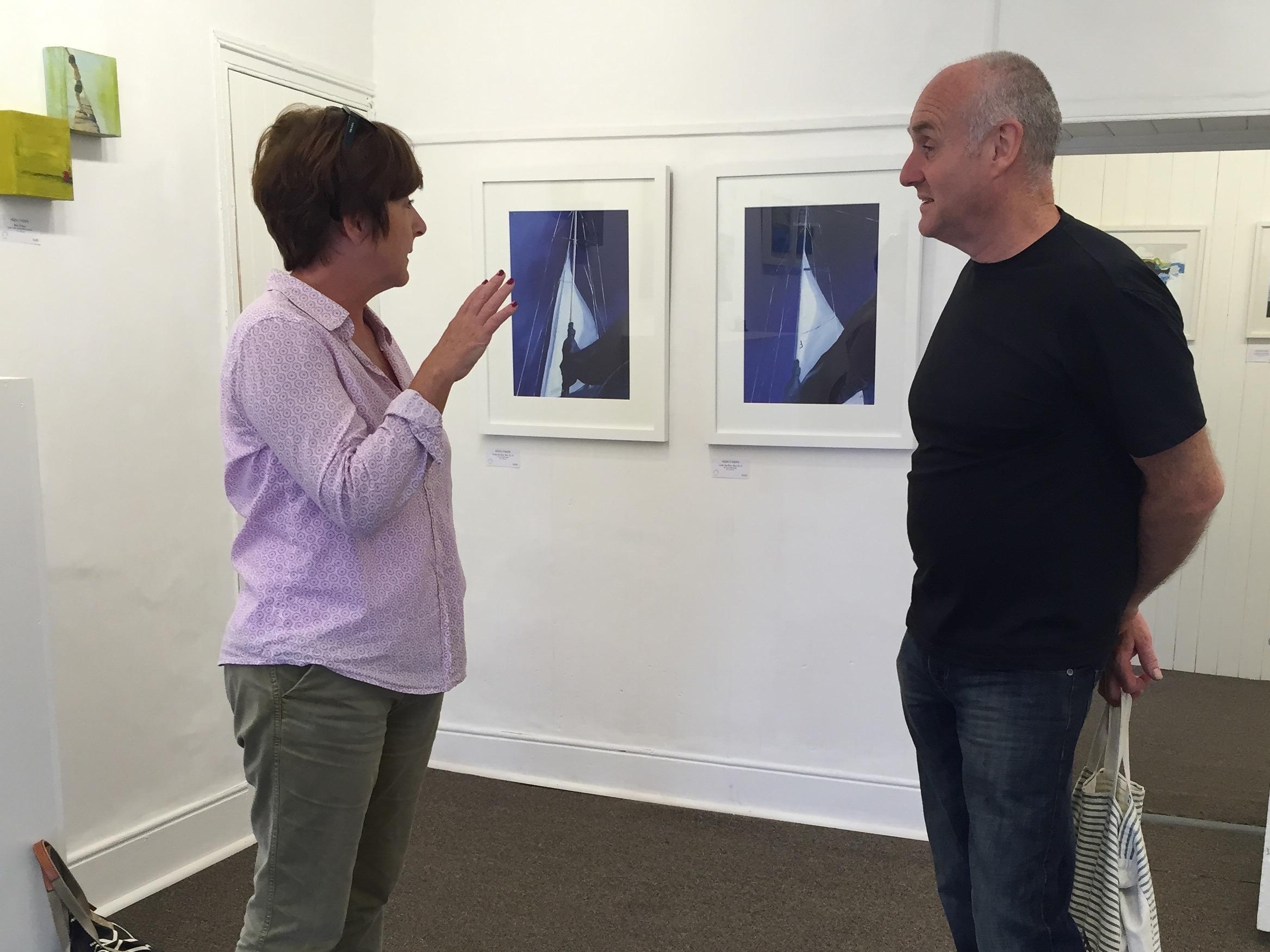Helen with fellow artist Donagh Carey.
